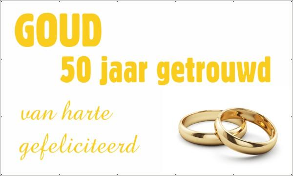 Fabulous 50 jaar getrouwd (Spandoek) | 123spandoek.nl @LY42