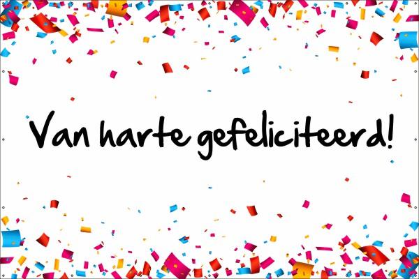 spandoek gefeliciteerd Gefeliciteerd Spandoek Confetti | 123spandoek.nl spandoek gefeliciteerd