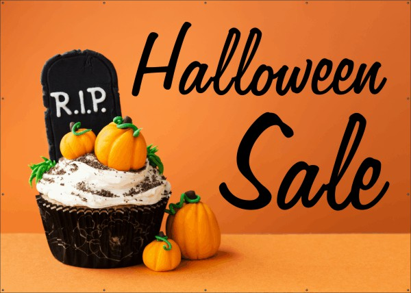 Halloween Sale Spandoek