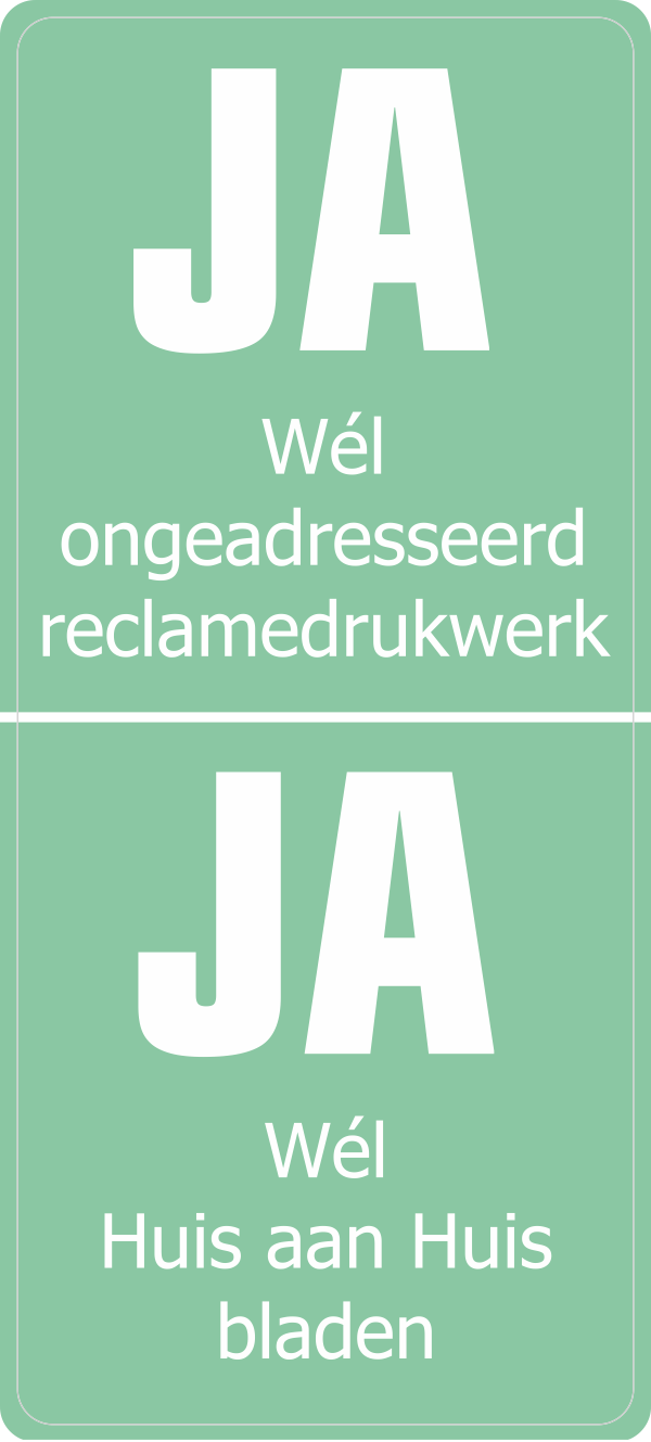 Ja-Ja sticker verticaal metallic