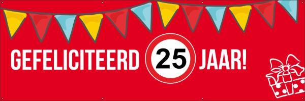 Verjaardag 25 Spandoek 123spandoek Nl