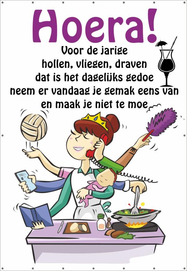 Fabulous Verjaardag vrouw (Spandoek) | 123spandoek.nl &VH95