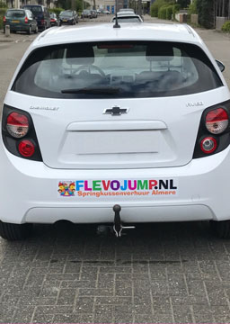 Full Colour sticker op auto